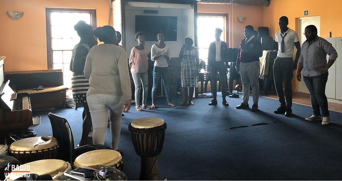 Their choir is rehearsing.