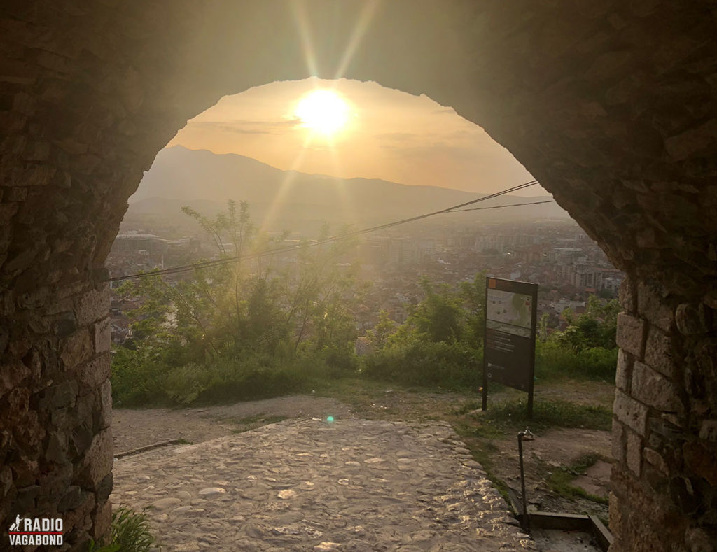 Sun setting over Prizren.