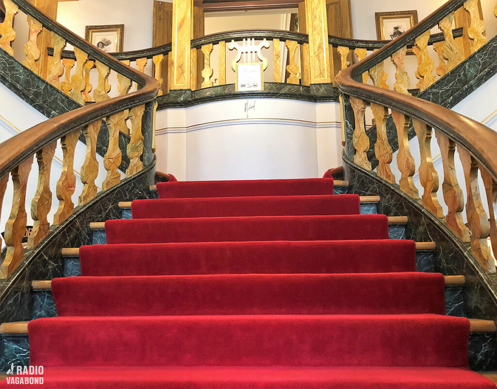 Of course there's a stunning staircase in the castle.