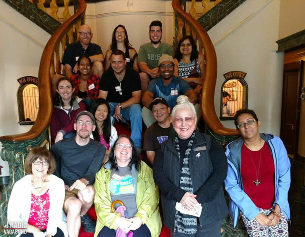 Another Couchsurfer's group photo. This one is at Godspeed Opera House