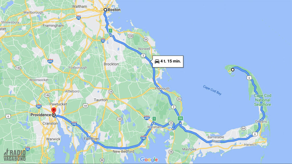 My trip from Boston to Providence via Cape Cod